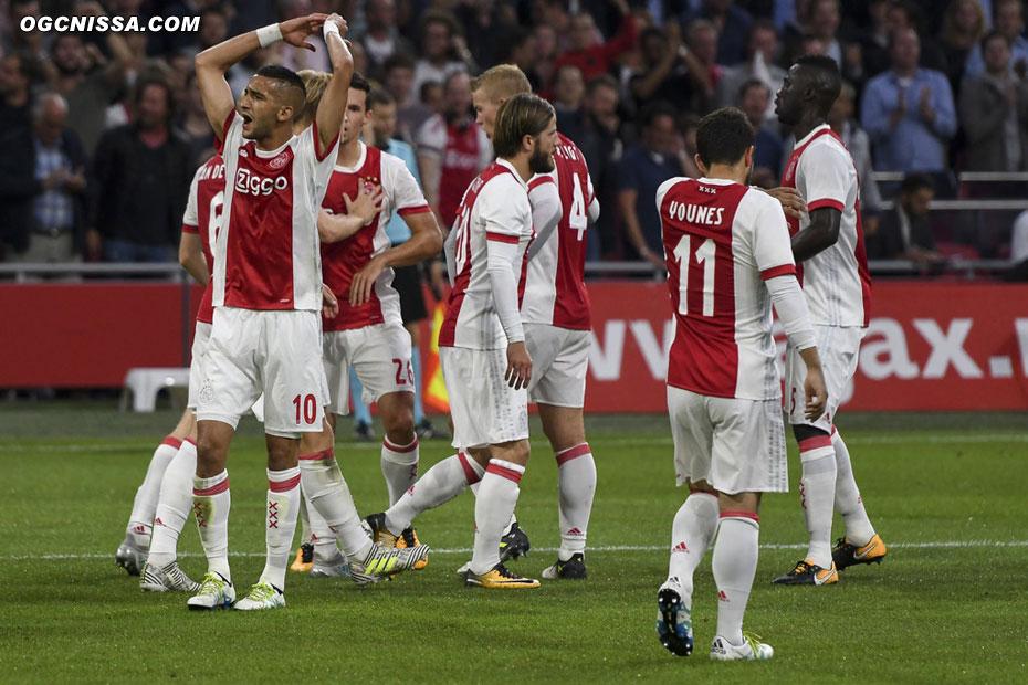 Mais l'Ajax égalise