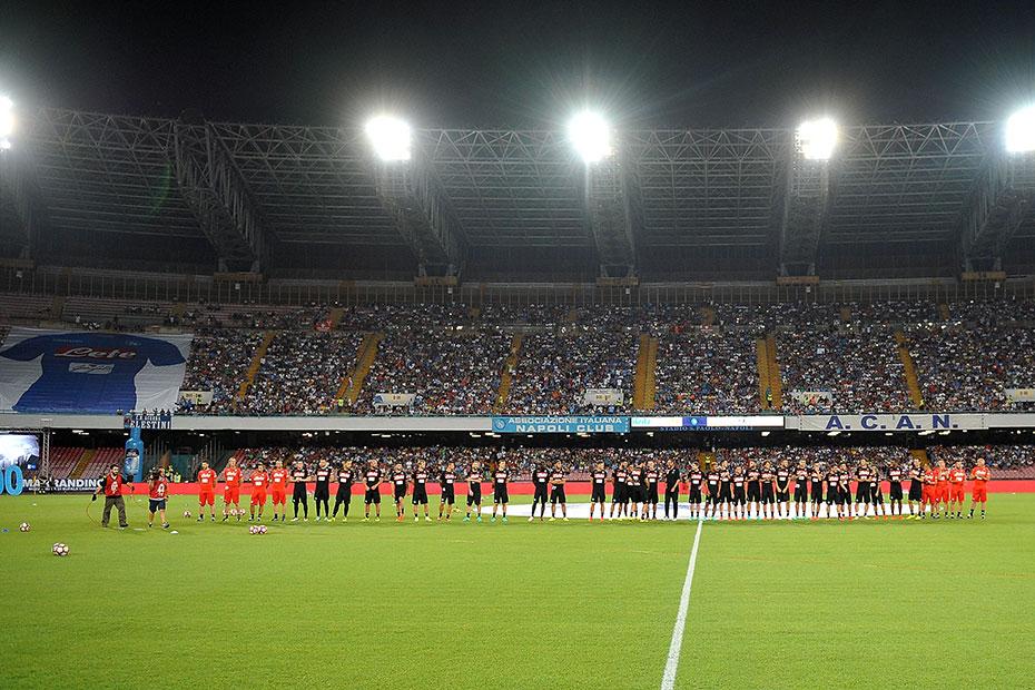 Le Stadio San Paolo était donc plein