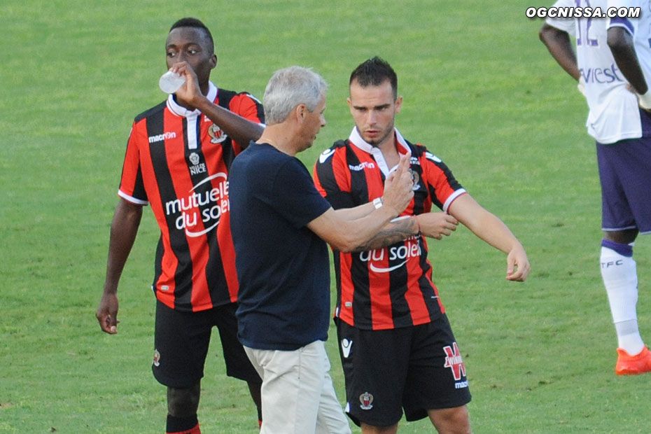 Arnaud Lusamba, Lucien Favre et Alexy Bosetti