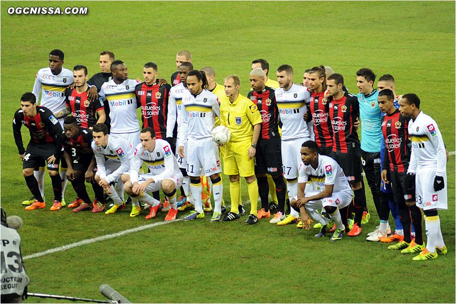 Photo des deux équipes