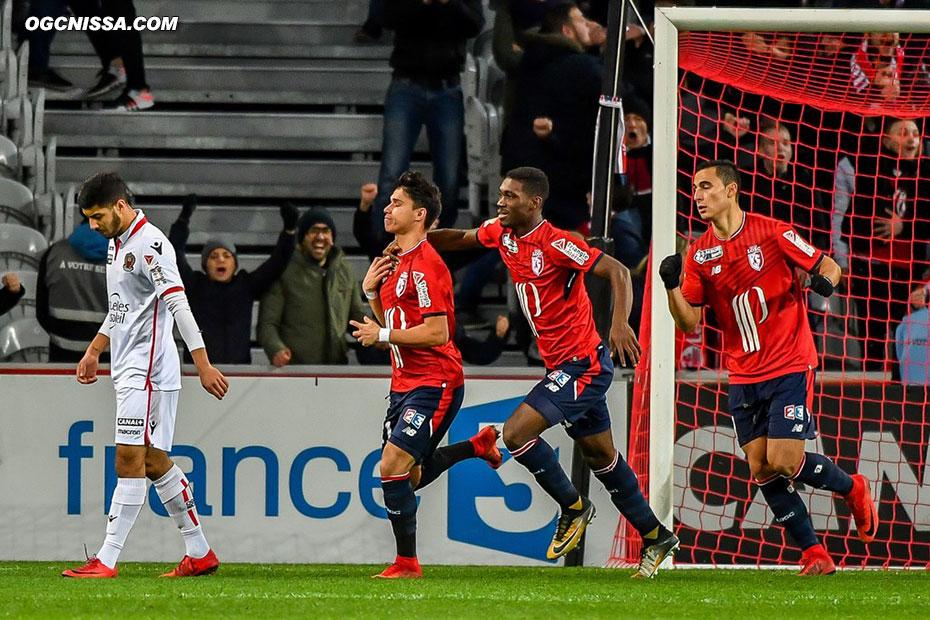 Lille ouvre rapidement le score